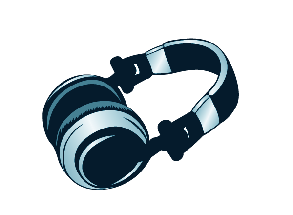 Vector art of headphones