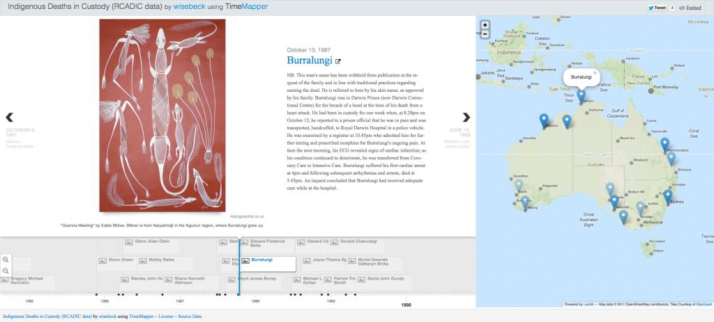 Screen shot of my sample TimeMap