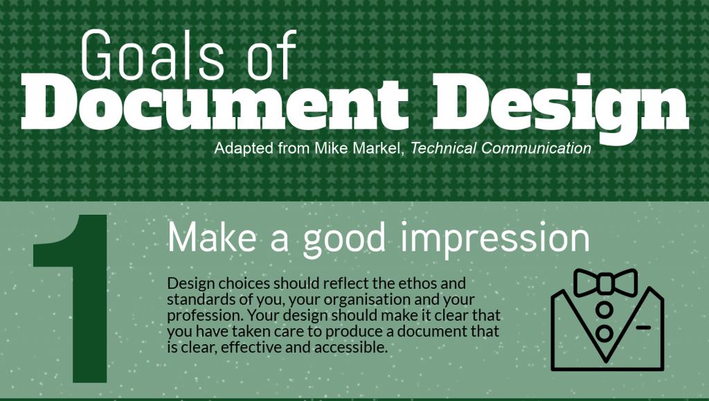 Infographic: goals of document design