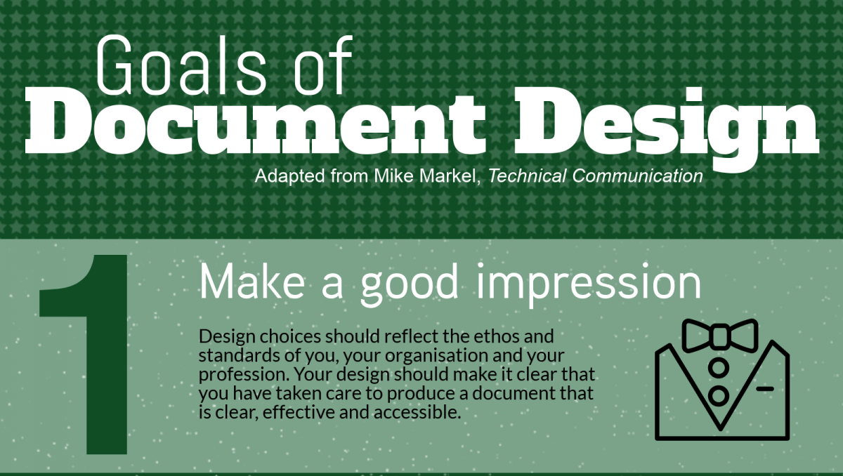 Infographic: goals of document design